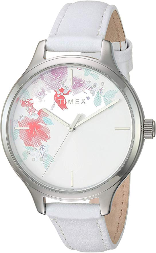 Timex Crystal Bloom Swarovski Leather Ladies Watch
