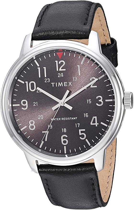 Timex Basics Leather Mens Watch