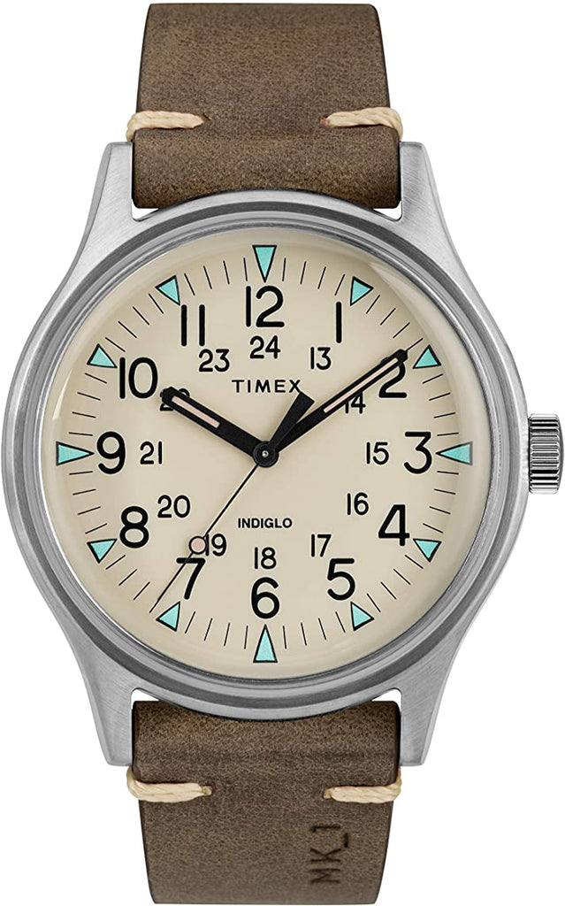 Timex MK1 Leather Mens Watch