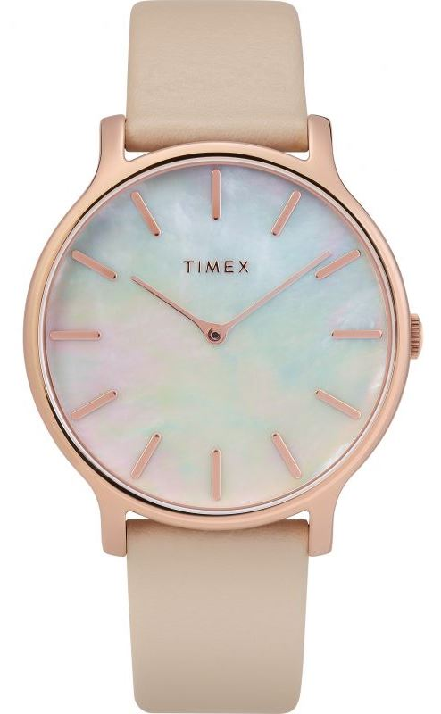 Timex Metropolitan Transcend Leather Ladies Watch TW2T35300