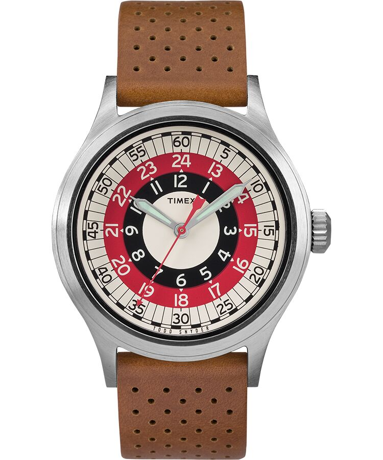 Timex Todd Snyder Mod Tan Leather Unisex Watch