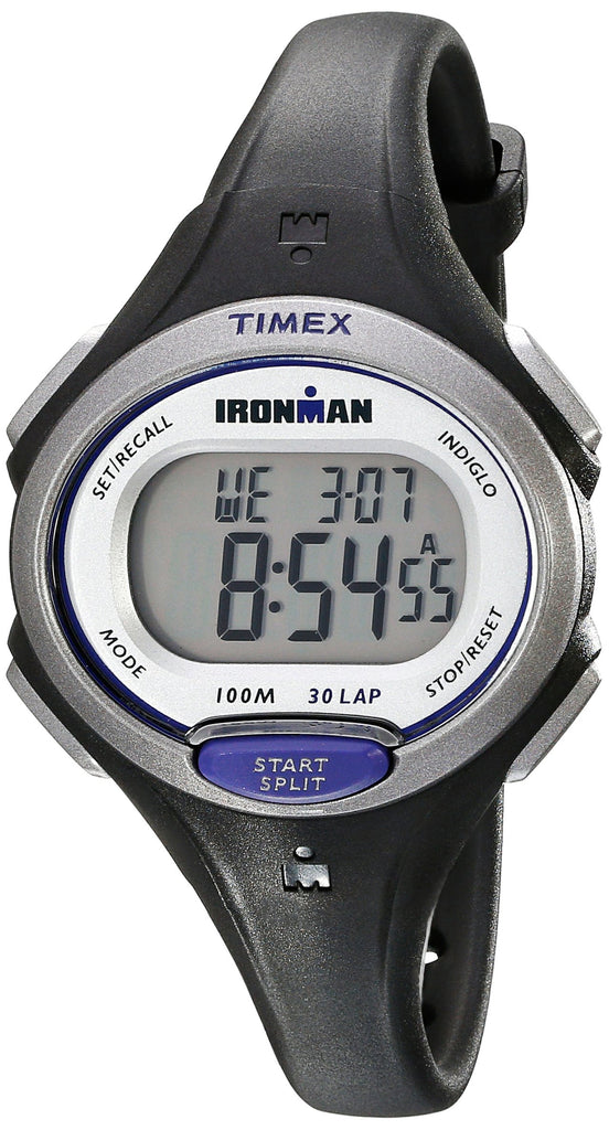 Timex Womens Ironman Essential | Black Mid-Size 30-Lap Memory Sport