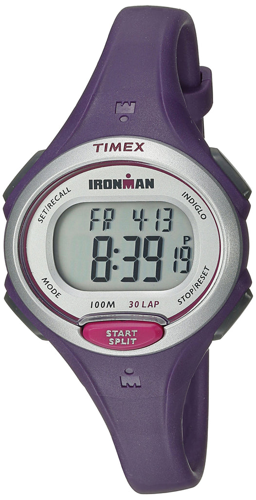 Timex Womens Ironman Essential | Purple Mid-Size 30-Lap Memory Sport