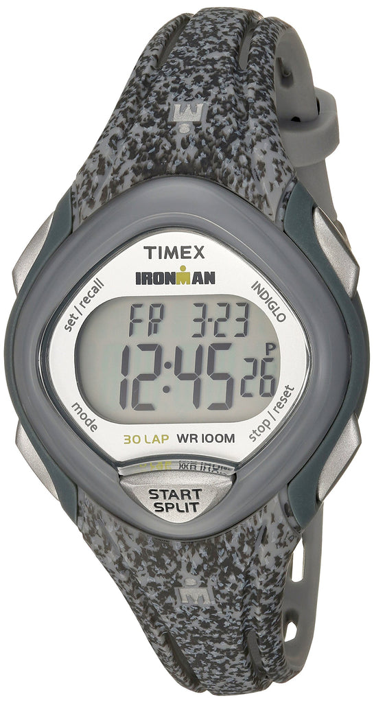 Timex Womens Ironman Sleek 30 Gray Speckled Resin Strap Watch