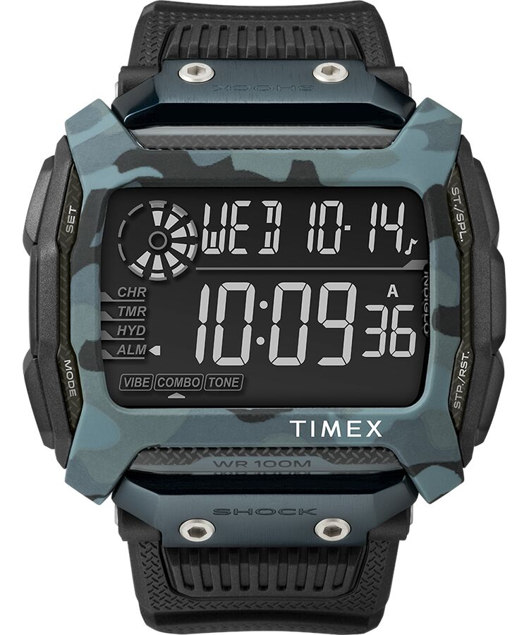 Timex Command Shock 54mm Camo Resin Mens Watch