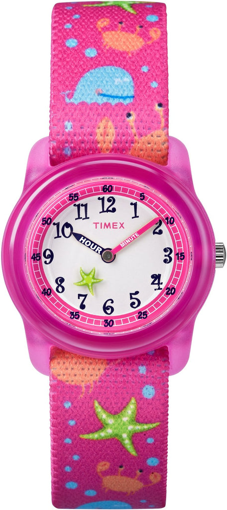 Timex Time Machines Elastic Fabric Pink Sea Girls Watch