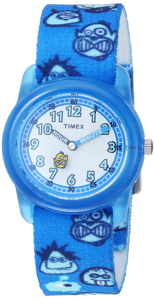 Timex Boys Time Machines Blue/Monsters Elastic Fabric Strap Watch