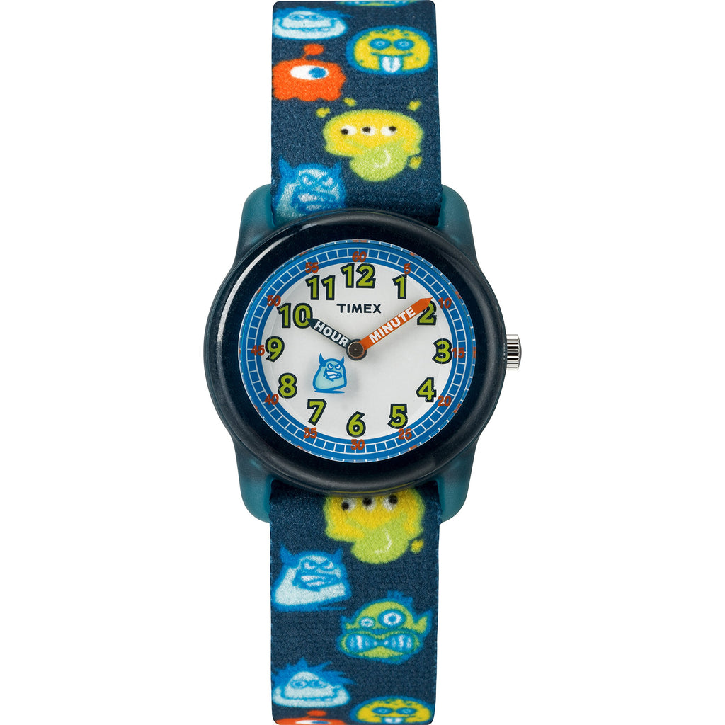 Timex Boys Time Machines Black/Monsters Elastic Fabric Strap Watch