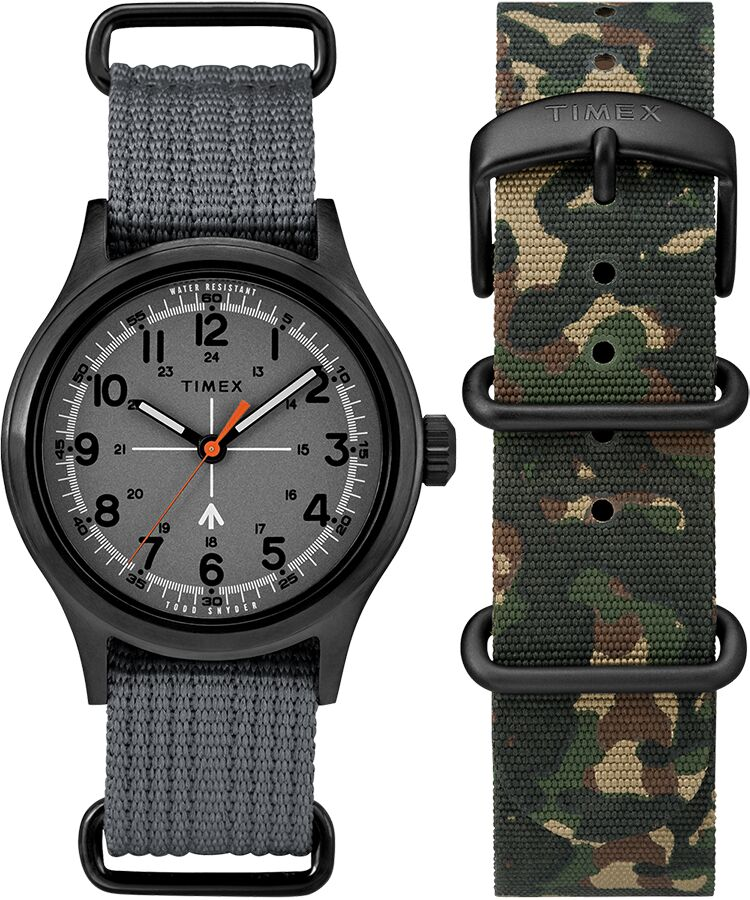 Timex X Todd Snyder Military Inspired Fabric Watch with Extra Strap