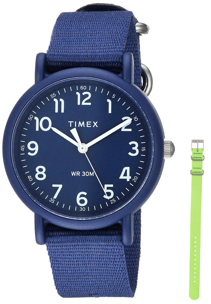 Timex Unisex Weekender Color Rush Navy/Green Box Set