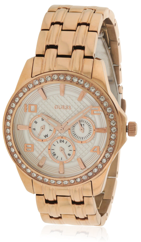 GUESS Rose Gold-Tone Polished Glamour Ladies Watch