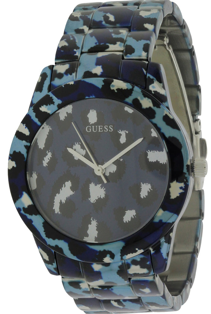 GUESS Blue Animal Print Bracelet Ladies Watch