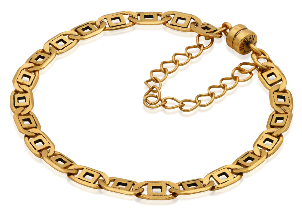 Alex And Ani Chain Link Magnetic Bracelet - Rafaelian Gold