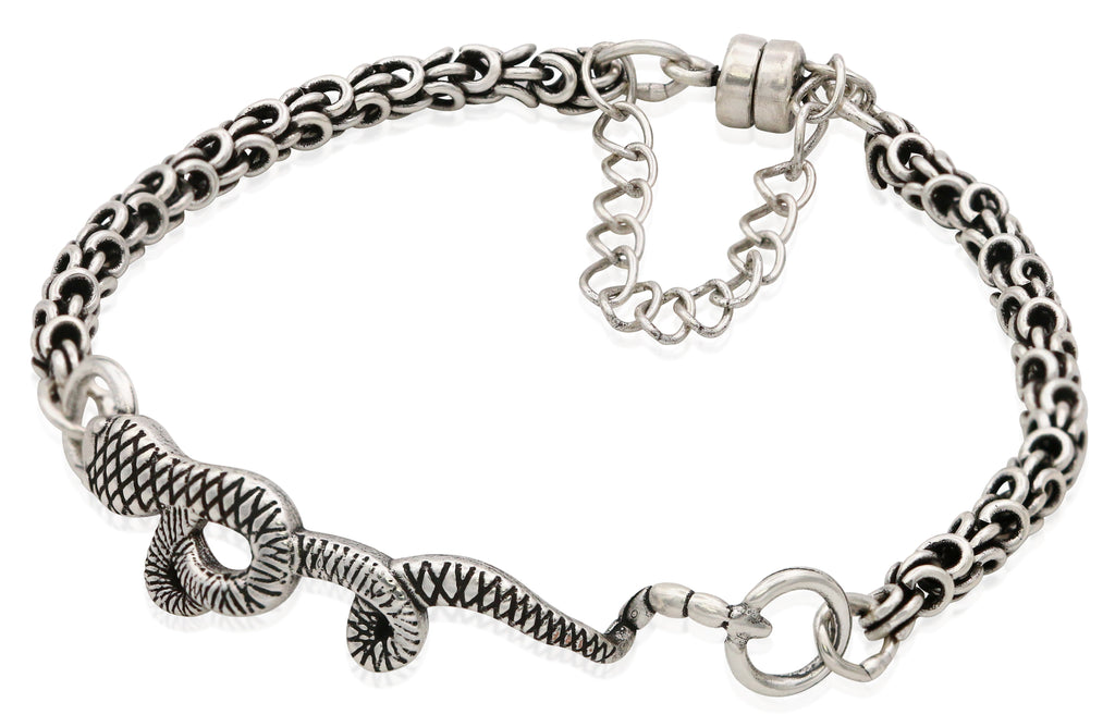 Alex And Ani Snake Magnetic Bracelet - Rafaelian Silver