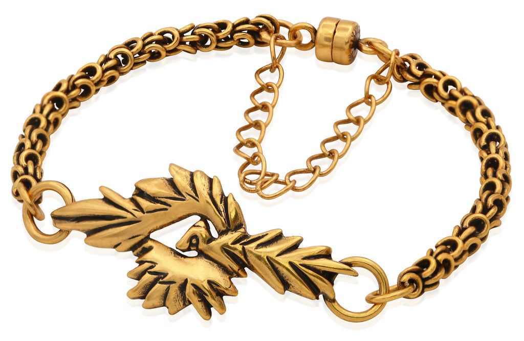Alex And Ani Phoenix Magnetic Bracelet - Rafaelian Gold