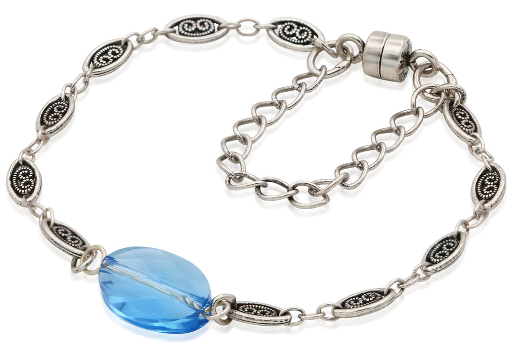 Alex And Ani Crystal Pond Magnetic Bracelet - Rafaelian Silver