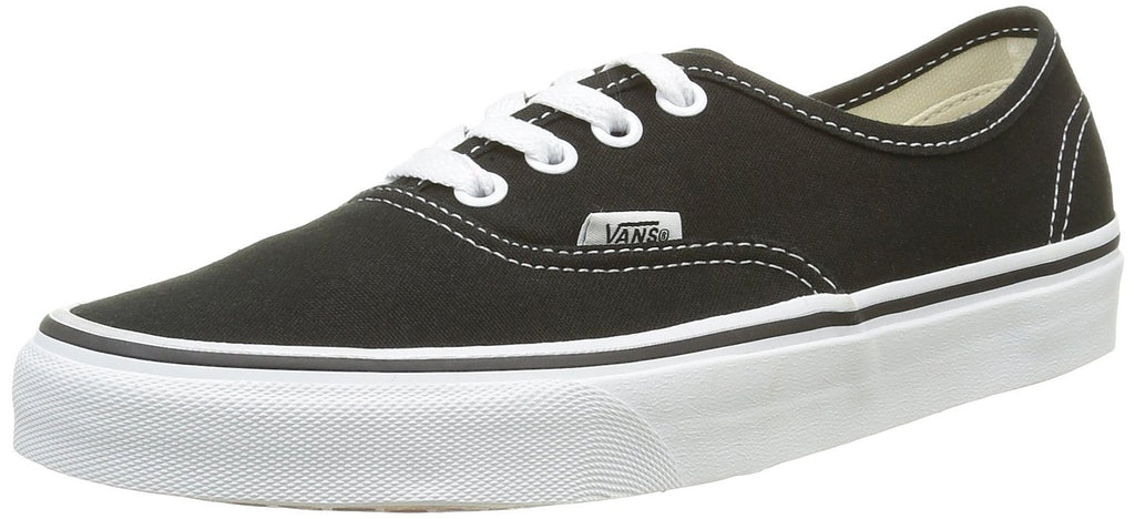 Vans Unisex Canvas Skateboard Shoe - Black - Mens - 9 - Womens - 10.5
