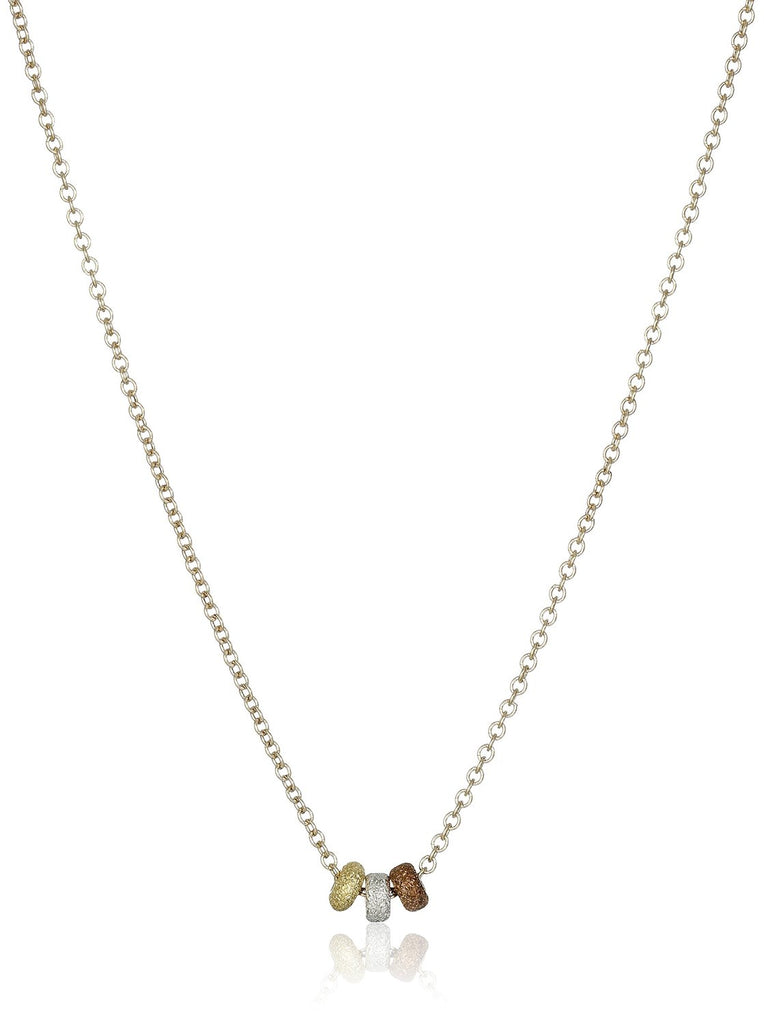 Dogeared 3 Wishes Mixed Metals Stardust Bead Necklace -