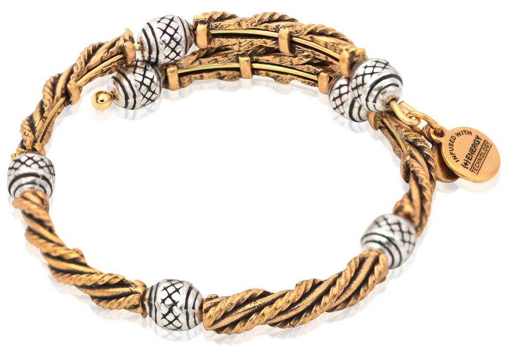 Alex And Ani Relic Wrap - Two Tone RG/RS -