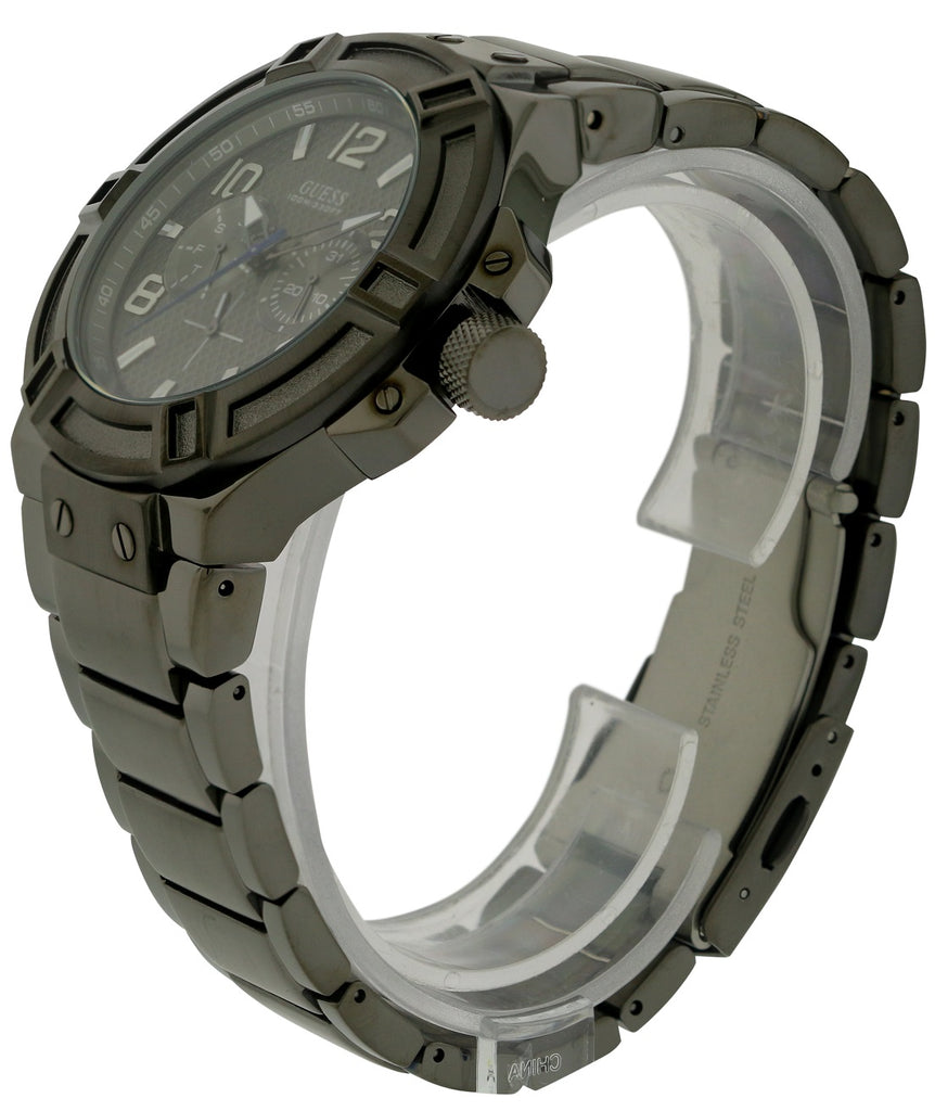 GUESS Black Steel Mens Watch