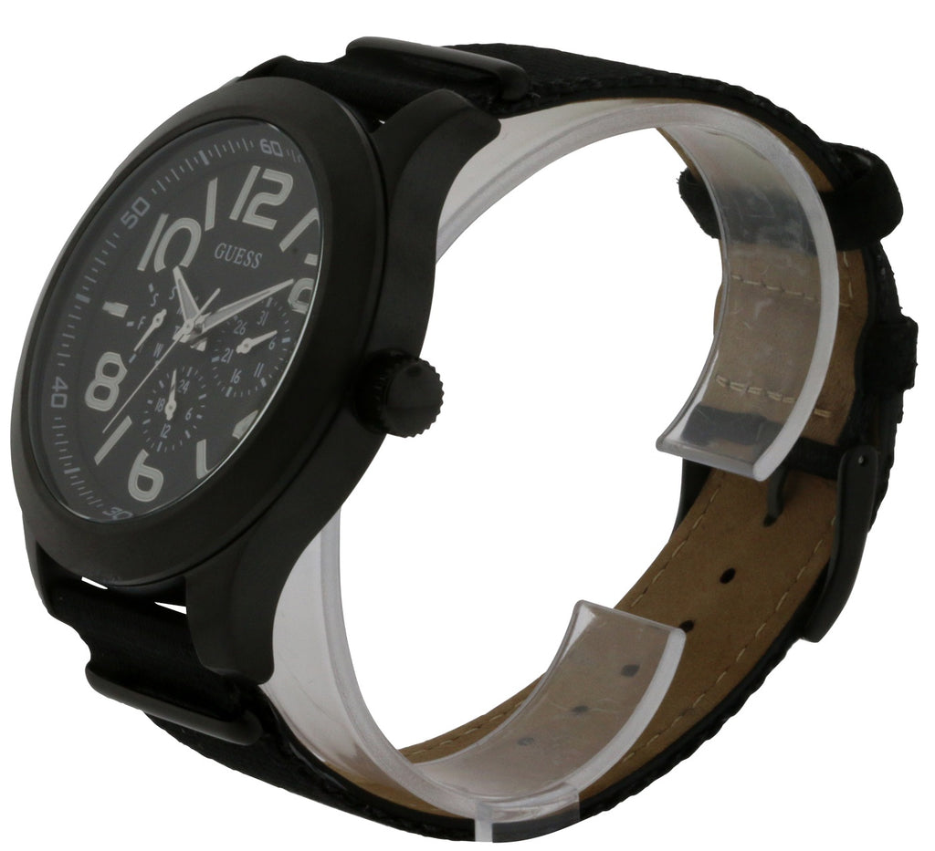 GUESS Rugged Black Fabric Chronograph Mens Watch
