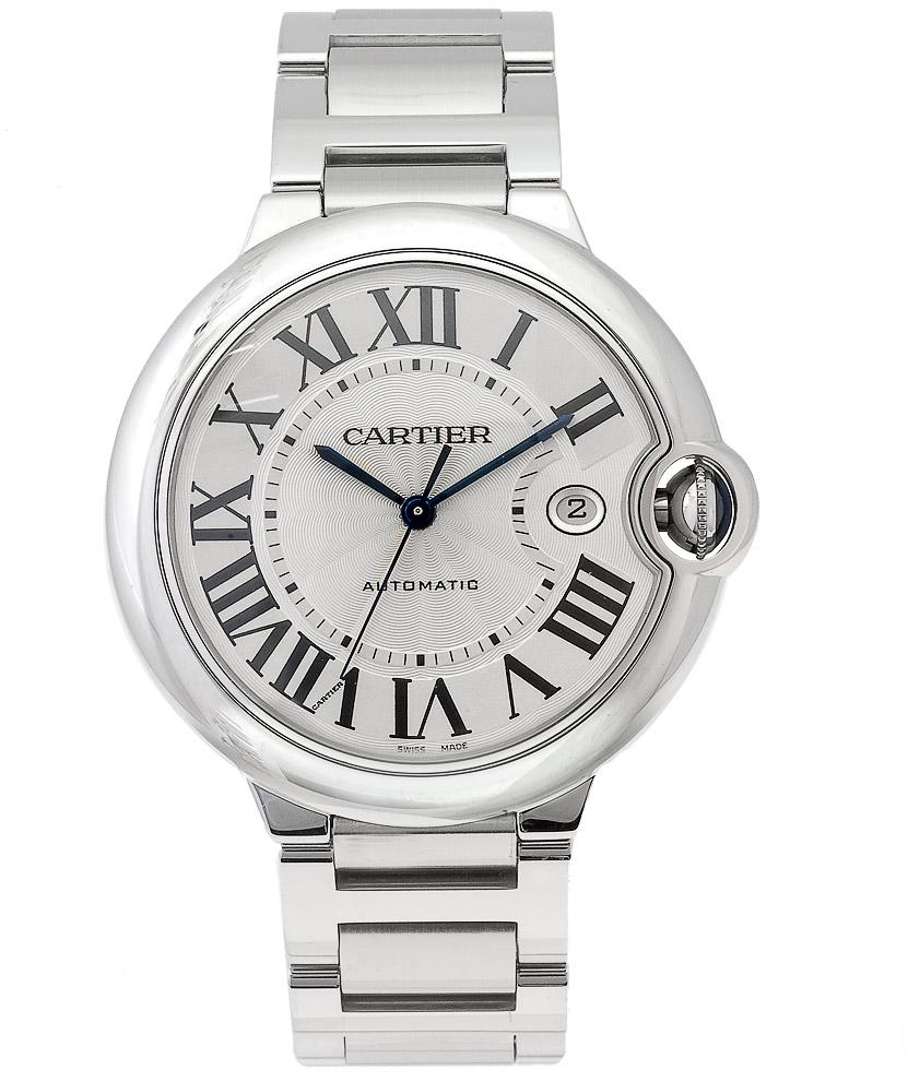 Cartier Mens Ballon Bleu Stainless Steel Automatic Watch