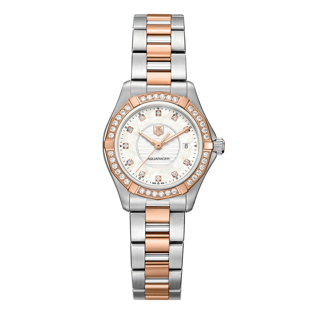 Tag Heuer Aquaracer Two-Tone Ladies Watch (Open Box) WAP1452.BD0837