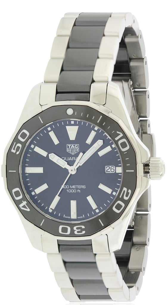Tag Heuer Aquaracer Stainless Steel and Ceramic Ladies Watch