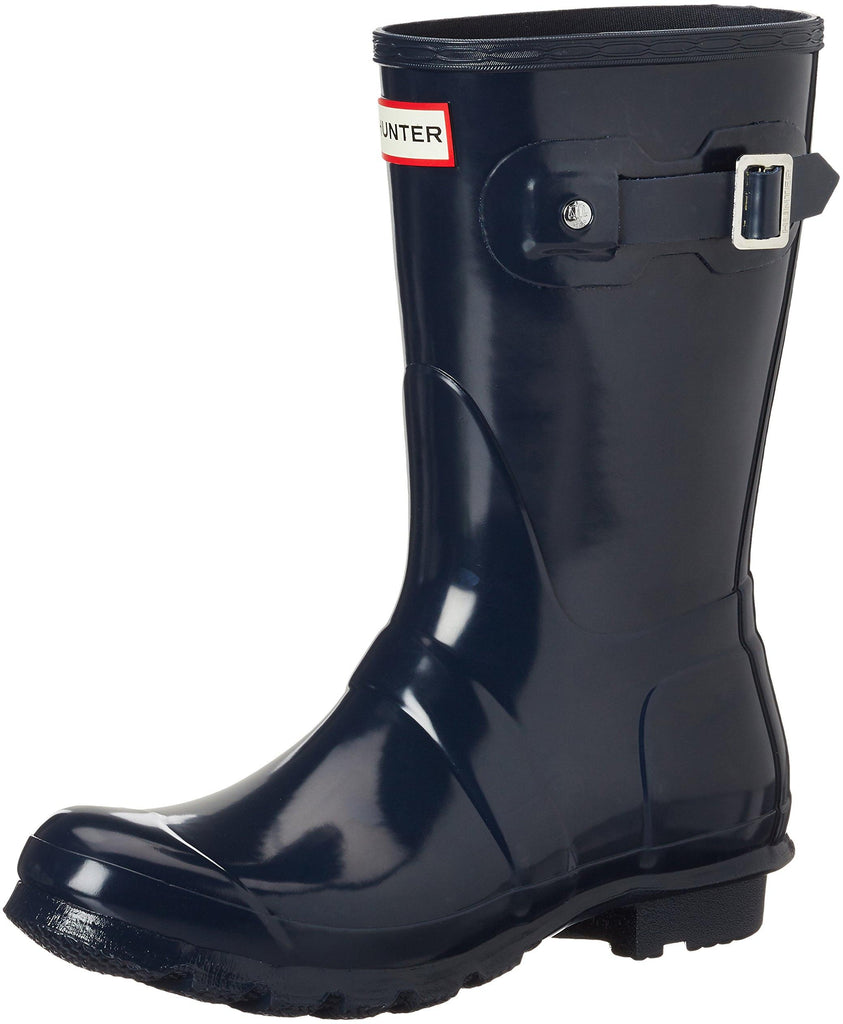 Hunter Womens Original Short Gloss Rain Boots - Navy - Size 8