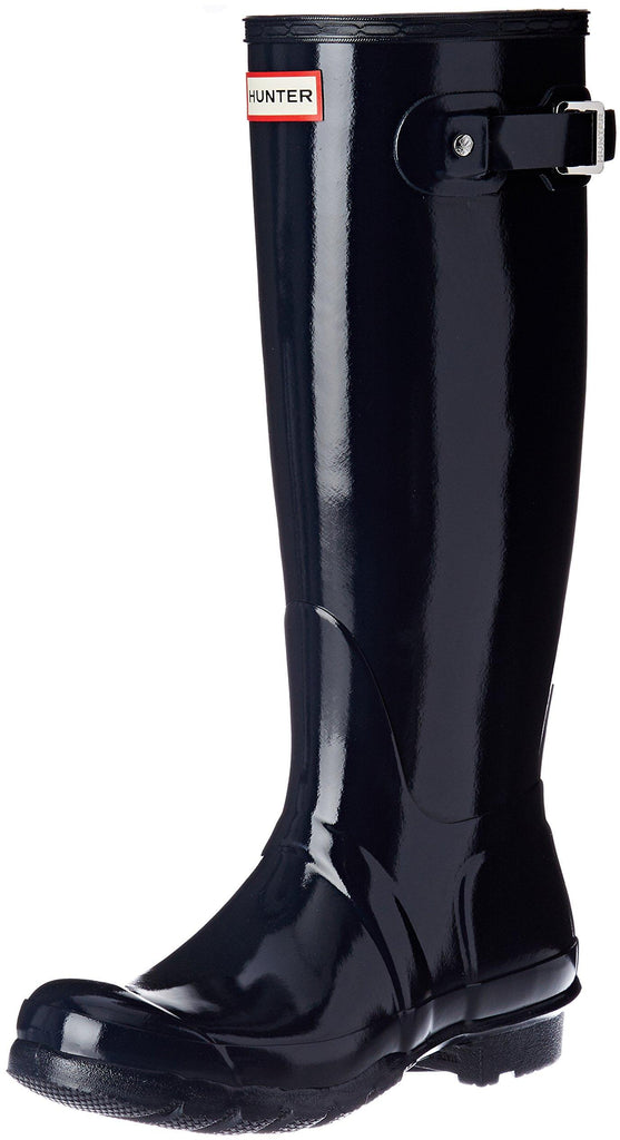 Hunter Womens Original Tall Gloss Rain Boots - Navy - Size 6