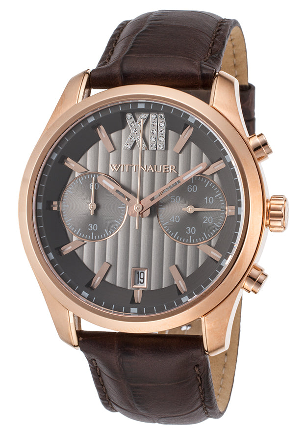 Wittnauer Leather Chronograph Mens Watch