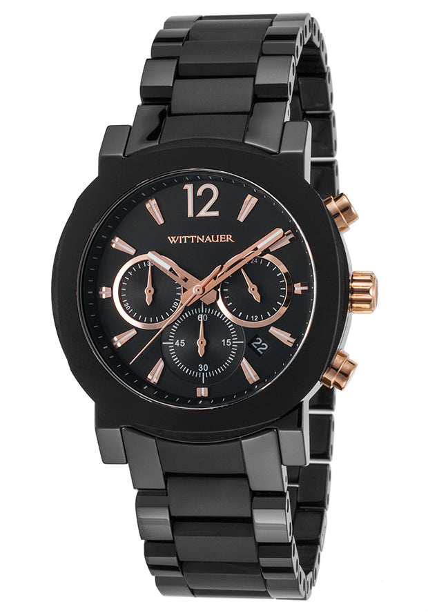 Wittnauer Aiden Chronograph Black Stainless Steel Mens Watch