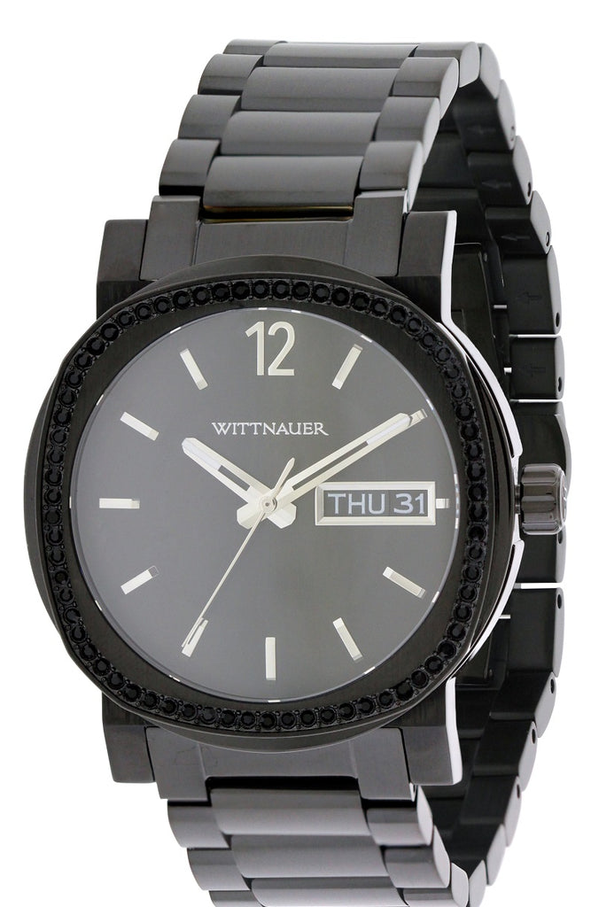Wittnauer Black Ion Stainless Steel Chronograph Mens Watch