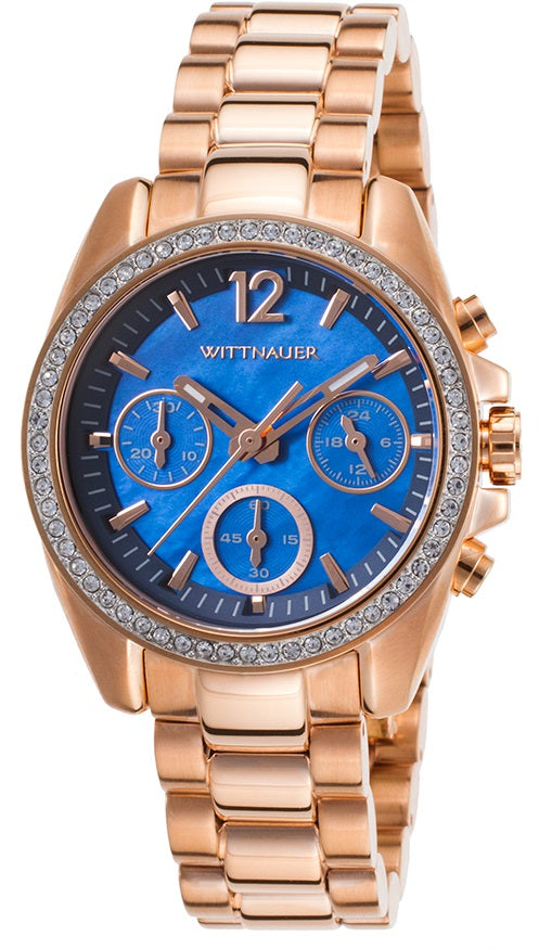 Wittnauer Lucy Chronograph Rose Gold-Tone Ladies Watch