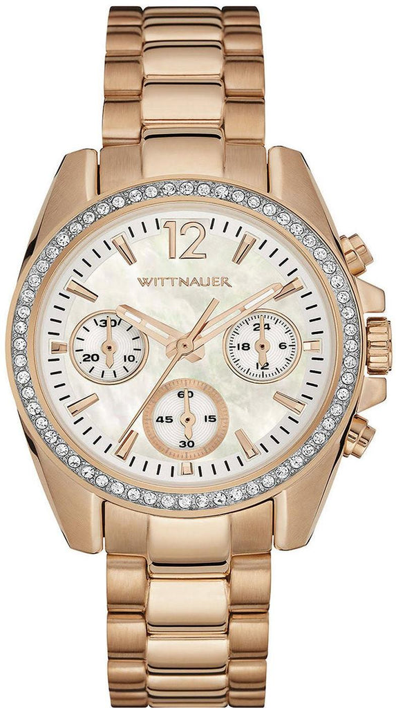Wittnauer Rose Gold-Tone Chronograph Ladies Watch