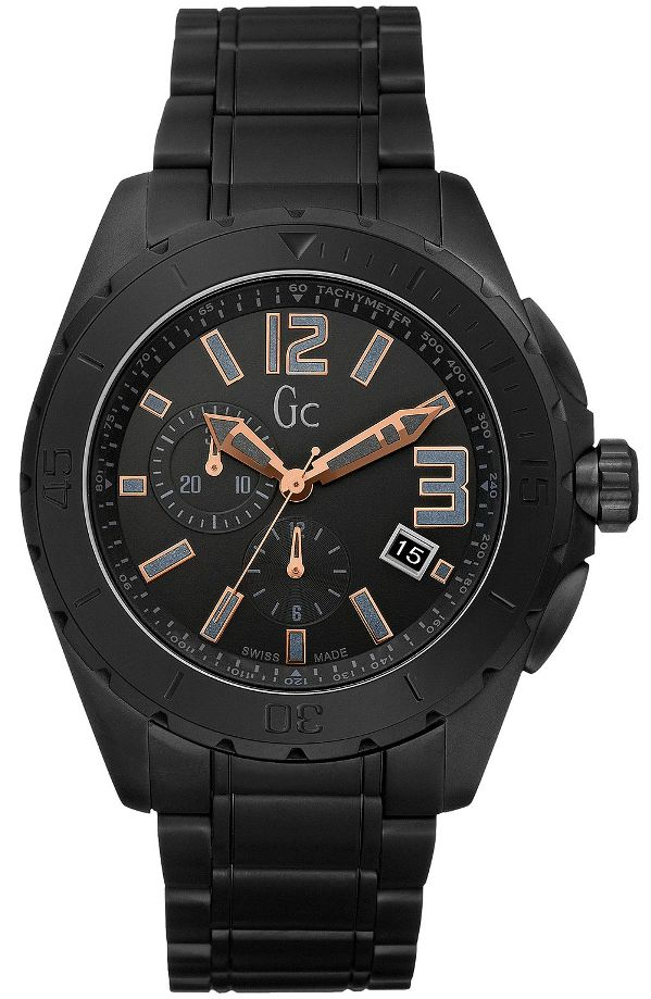Guess Gc Swiss Sports Class XXL Black Ceramic Mens Watch