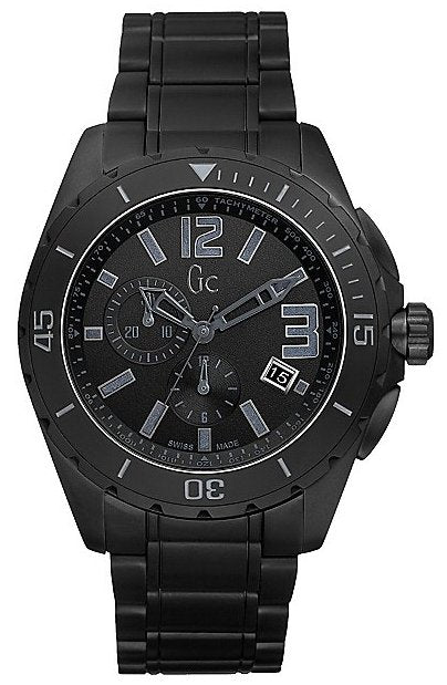 GUESS Gc Sport Class XXL Blackout Ceramic Mens Watch