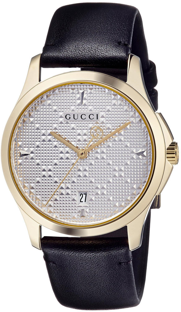 Gucci G-Timeless Leather Mens Watch