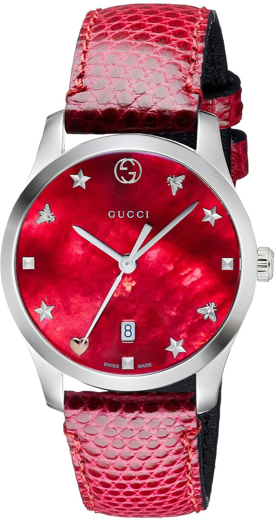 Gucci G-Timeless Leather Ladies Watch