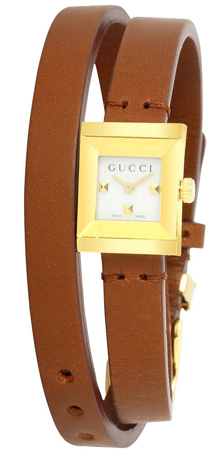 Gucci G-Frame Leather Ladies Watch