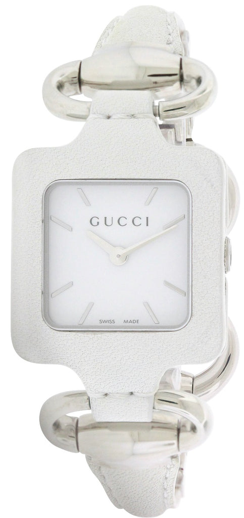 Gucci 1921 Series White Leather Bangle Ladies Watch