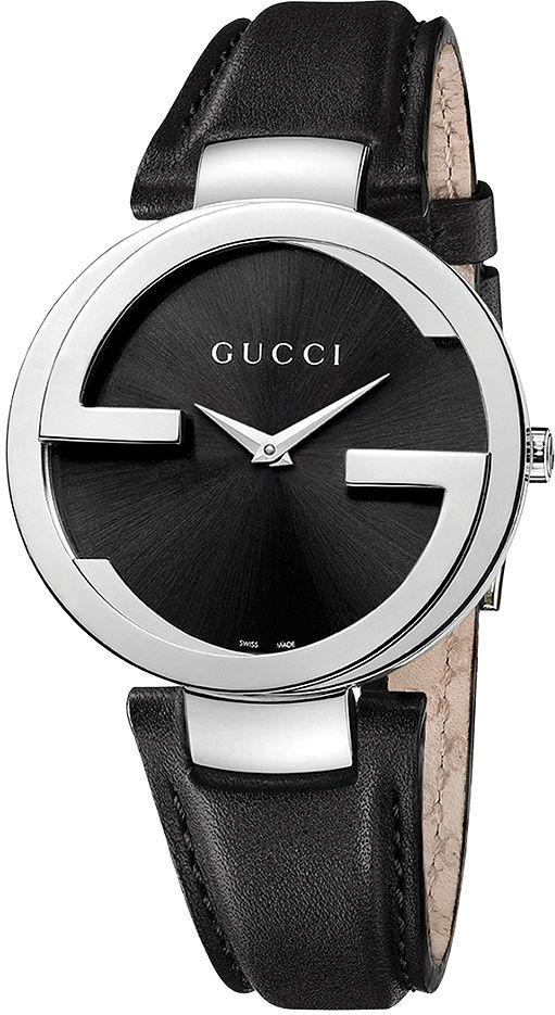 Gucci Interlocking Leather Ladies Watch