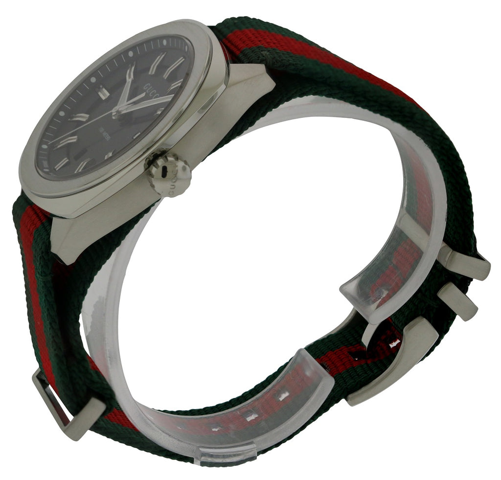 Gucci Green-Red-Green Web Nylon Mens Watch