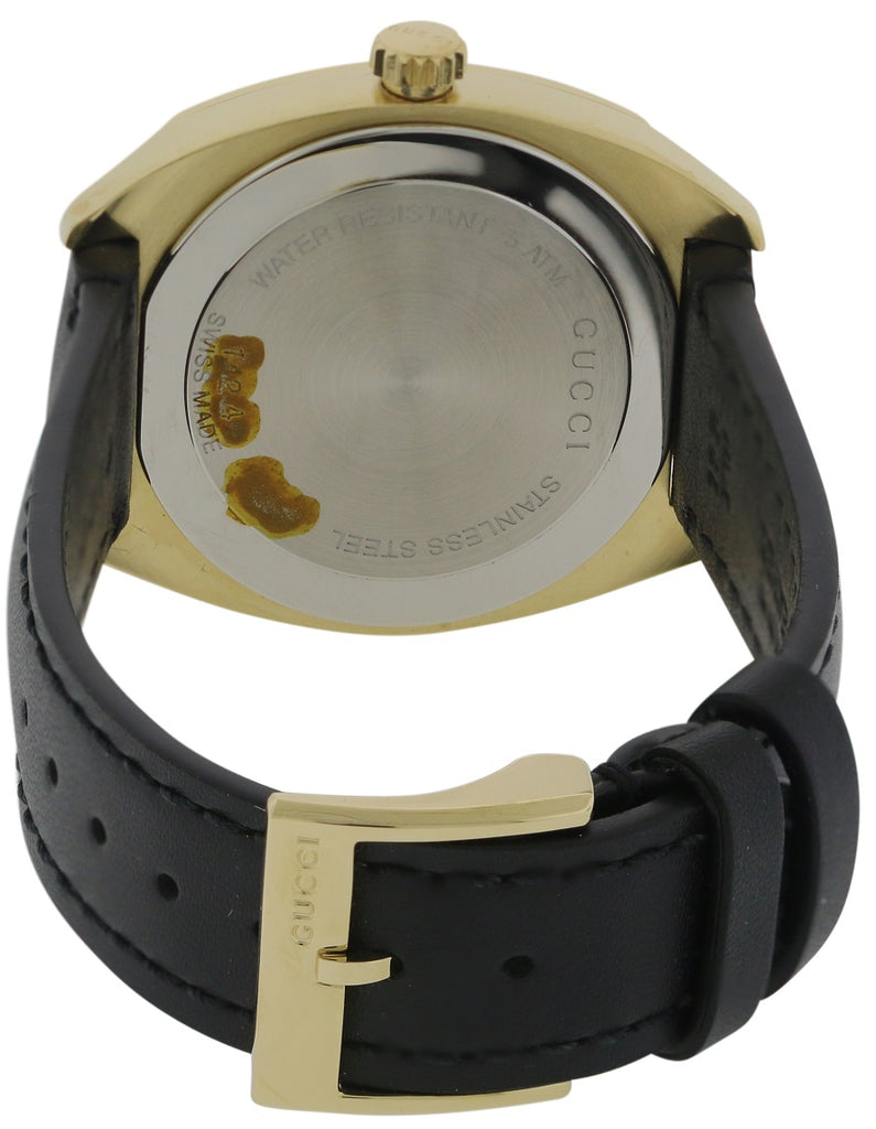 Gucci GG2570 Gold-Tone Leather Ladies Watch