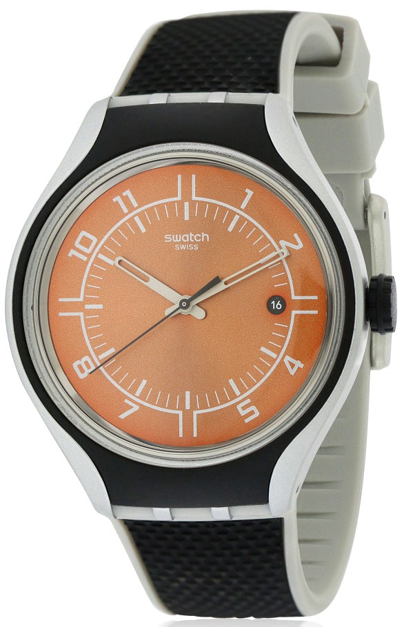 Swatch GO JOG Silicone Mens Watch