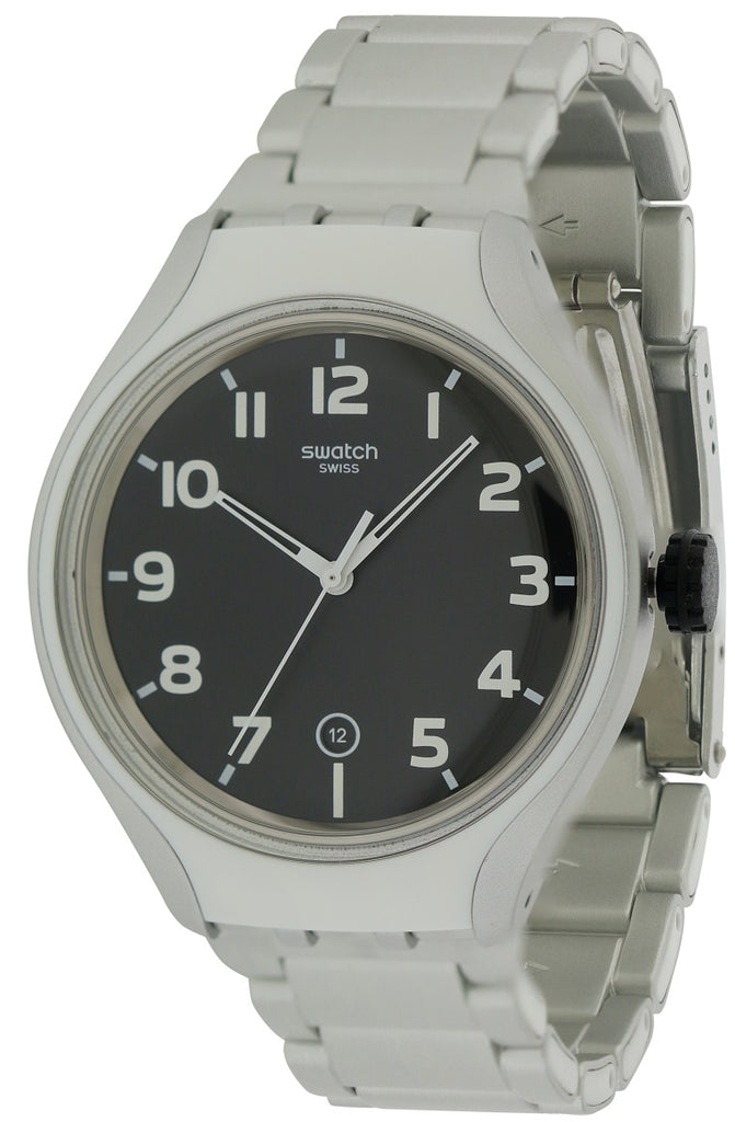 Swatch STRIPE BACK Aluminum Mens Watch