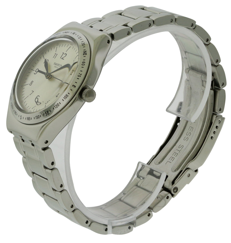 Swatch SILVER JOE Stainless Steel Mens Watch