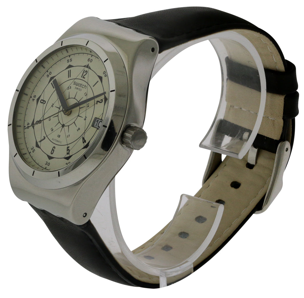 Swatch SISTEM SOUL Leather Automatic Mens Watch