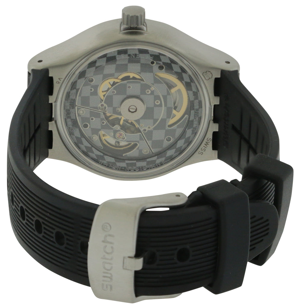 Swatch SISTEM ARROW Silicone Automatic Mens Watch