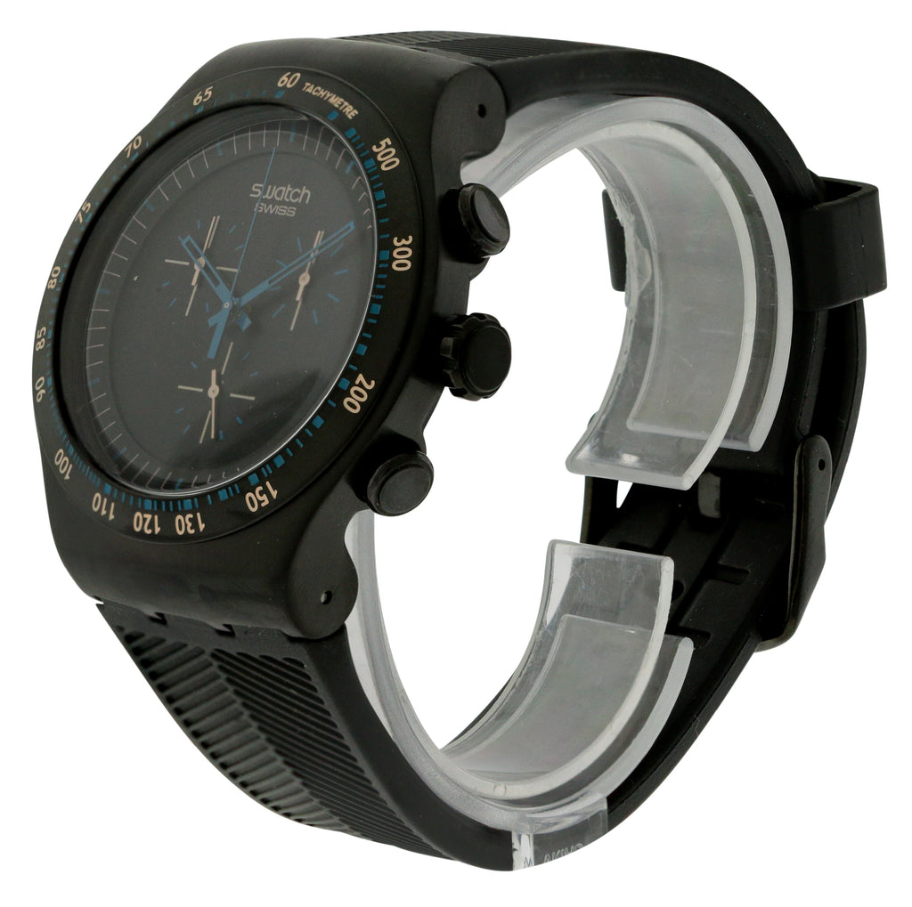 Swatch Blue in Dark Mens Watch